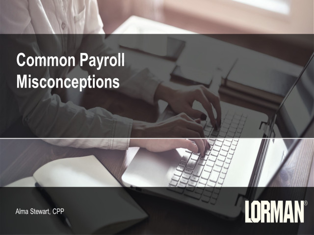 Common Payroll Misconceptions