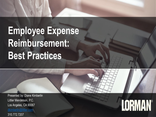 10 Best Employee Expense Reimbursement Practices