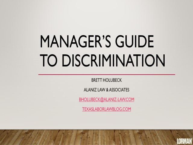 Manager's Guide to Discrimination