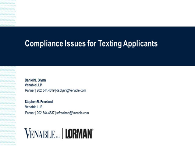 Compliance Issues for Texting Applicants