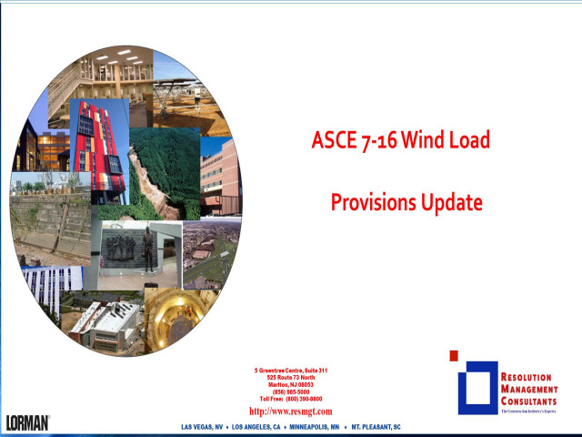 ASCE 7-16 Wind Load Provisions Update
