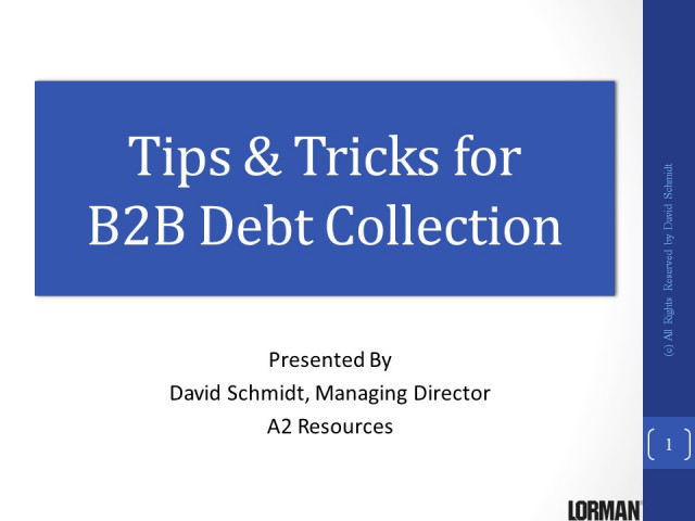 Tips and Tricks for B2B Debt Collection
