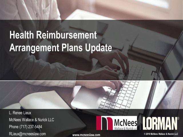 Health Reimbursement Arrangement Plans Update