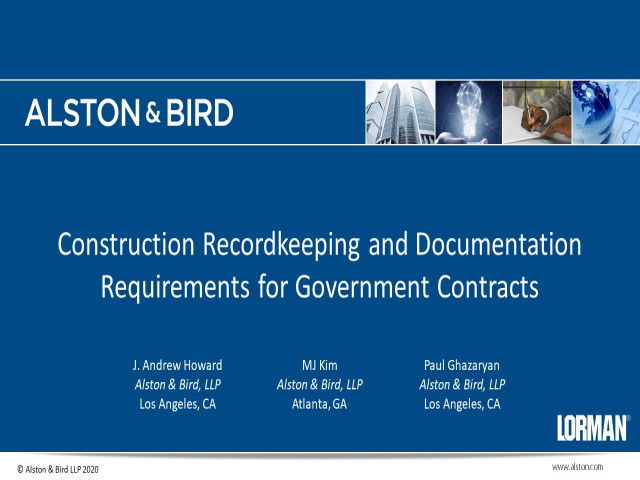 Construction Recordkeeping and Documentation Requirements for Government Contracts
