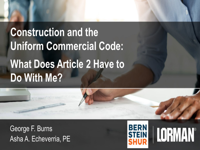 Construction and the Uniform Commercial Code