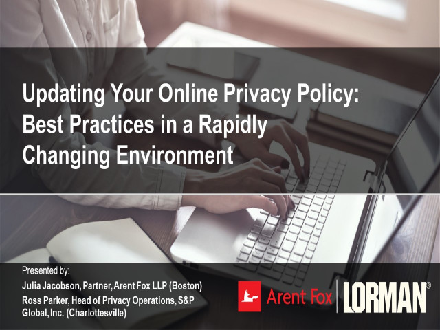 Updating Your Online Privacy Policy: Best Practices in a Rapidly Changing Environment
