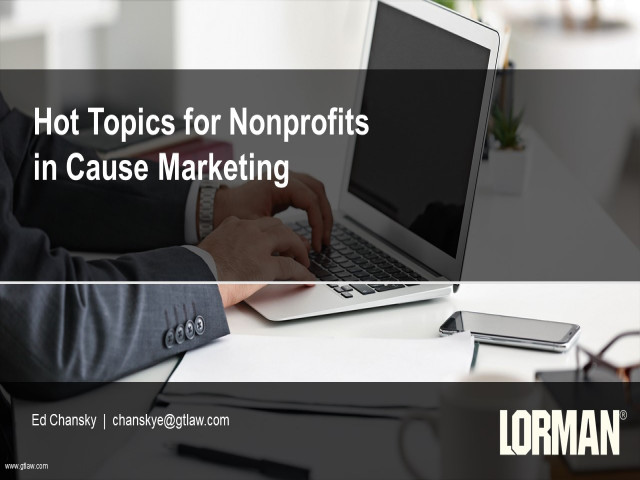 Hot Topics for Nonprofits in Cause Marketing