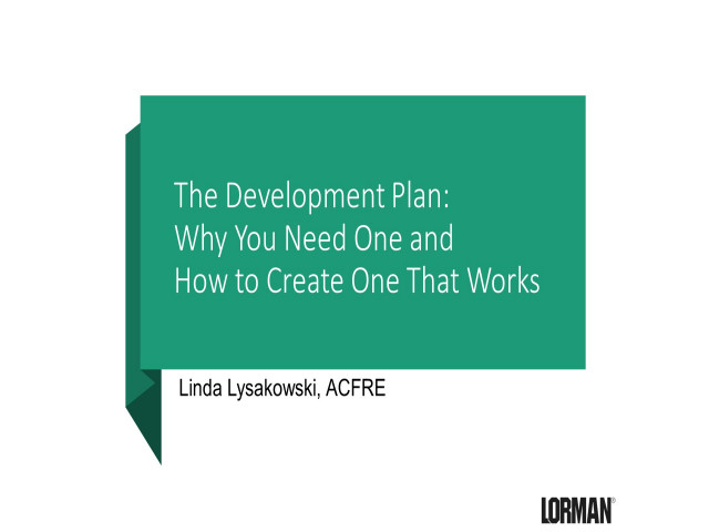 The Development Plan: Why You Need One and How to Create One That Works