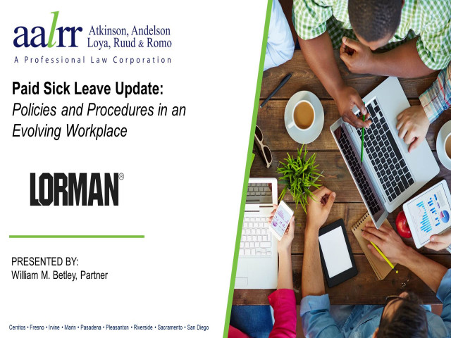 Paid Sick Leave Update: Policies and Procedures in an Evolving Workplace