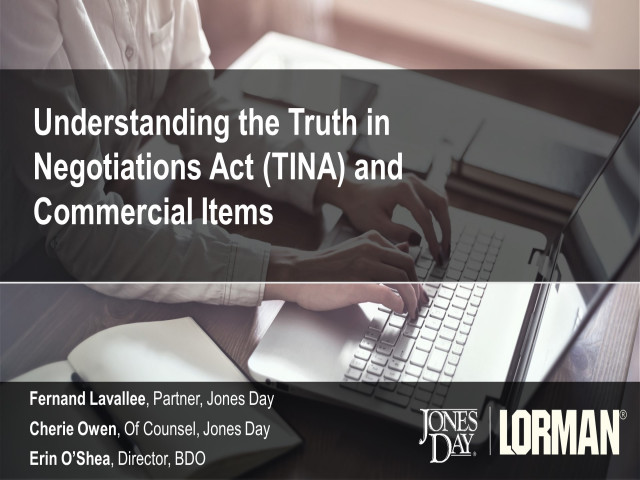 Understanding The Truth In Negotiations Act (TINA) and Commercial Items