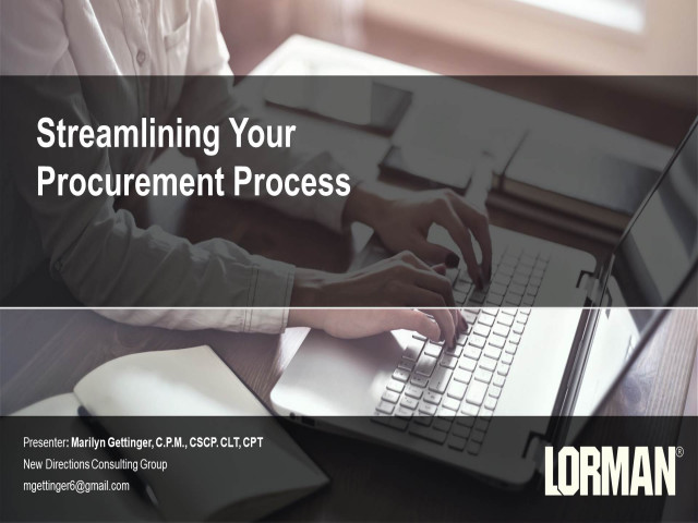 Streamlining Your Procurement Process