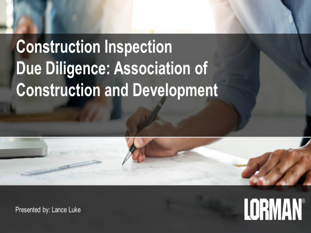 Construction Inspection Due Diligence