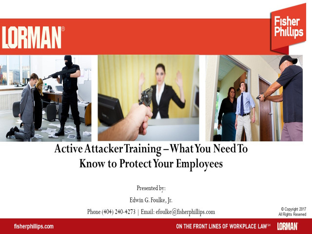 Active Attacker in the Workplace: Response and Safety Plans