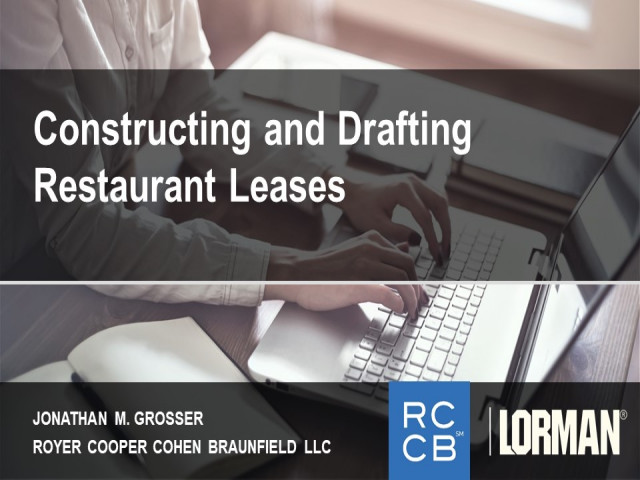 How to Draft and Negotiate a Restaurant Lease