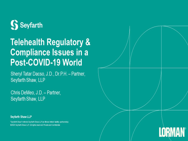 Telehealth Regulatory and Compliance Issues in a Post-COVID-19 World
