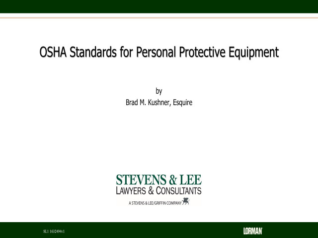 OSHA Standards for Personal Protective Equipment
