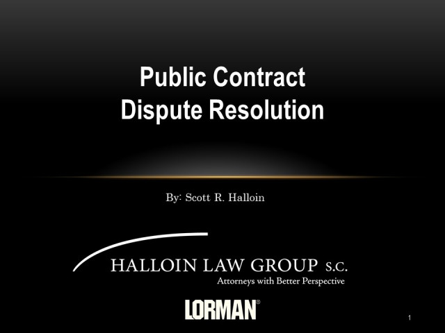 Public Contract Dispute Resolution