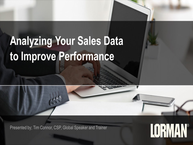 Analyzing Your Sales Data to Improve Performance