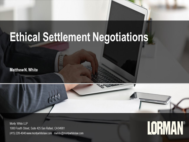 Ethical Settlement Negotiations