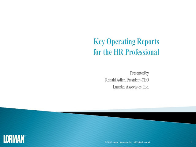 Key Operating Reports for the HR Professional