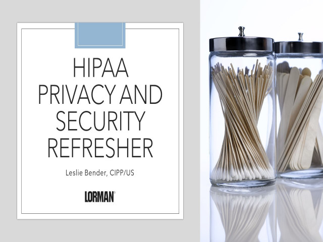 The Basics of HIPAA Privacy and Security