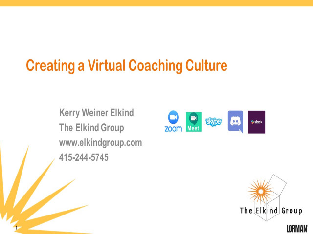 Creating a Virtual Coaching Culture