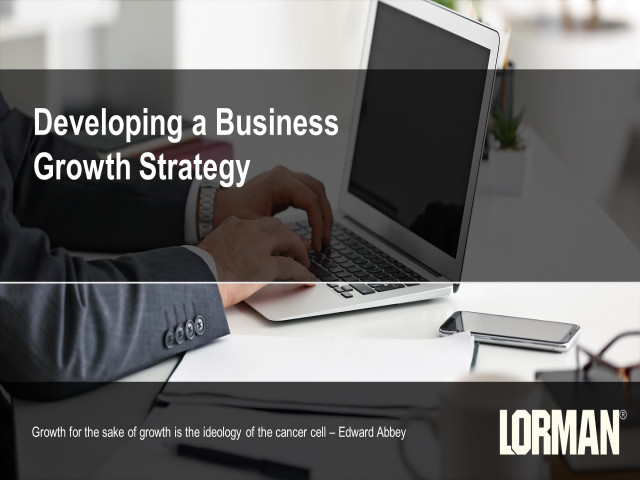 Developing a Business Growth Strategy