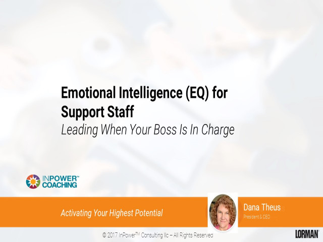 Emotional Intelligence for Support Staff