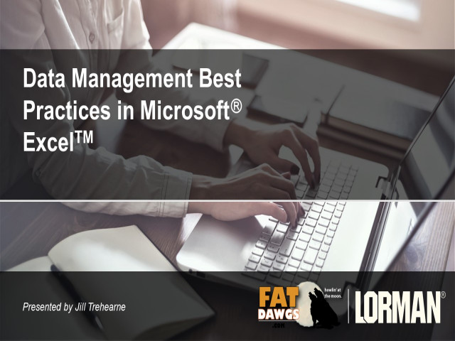 Data Management Best Practices in Excel®