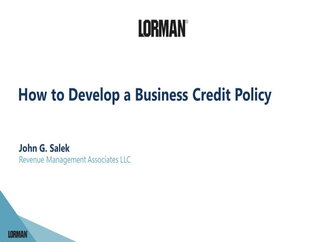 How to Develop a Business Credit Policy