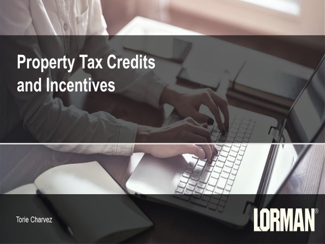 Property Tax Credits and Incentives