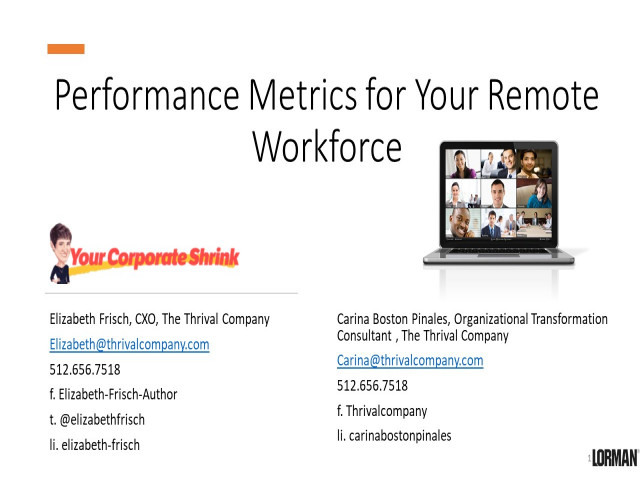 Performance Metrics for Your Remote Workforce