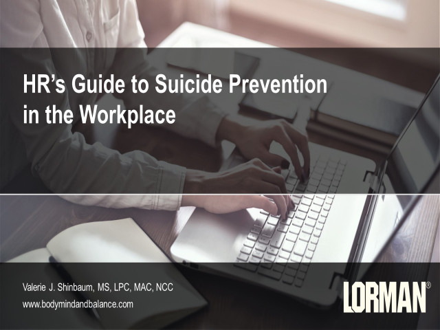 HR's Guide to Suicide Prevention in the Workplace