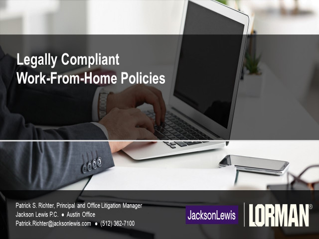 Legally Compliant Work-From-Home Policies