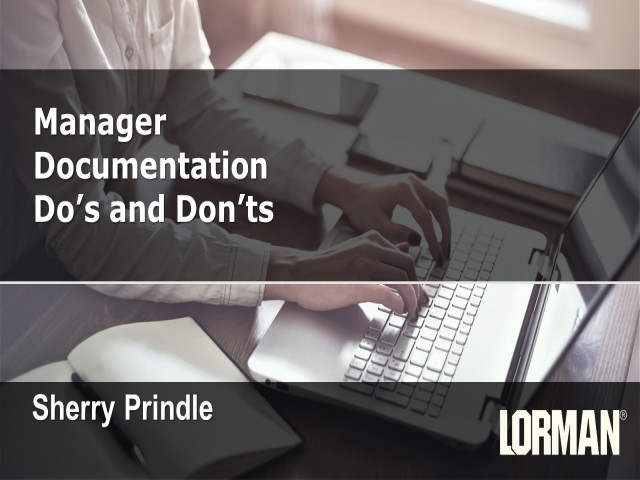 Manager Documentation Do's and Don'ts