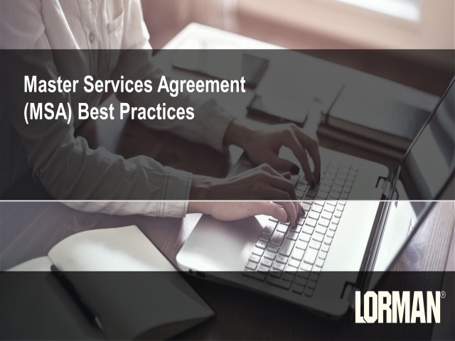 Master Services Agreement (MSA) Contract Best Practices