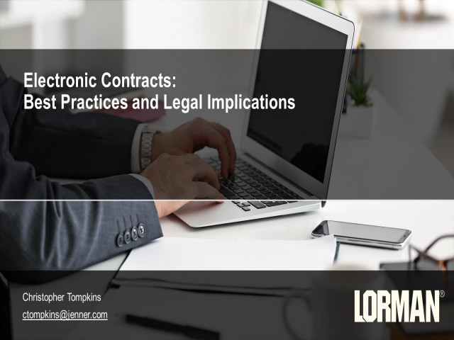 Electronic Contracts: Best Practices and Legal Implications