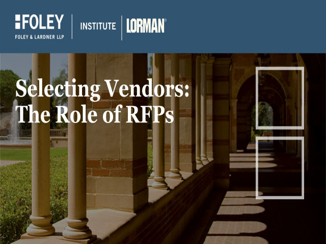 Selecting Vendors: The Role of RFPs