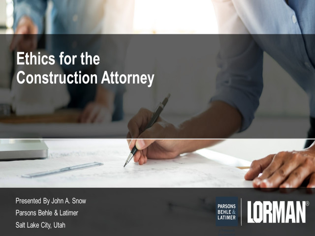 Ethical Issues in Construction Law