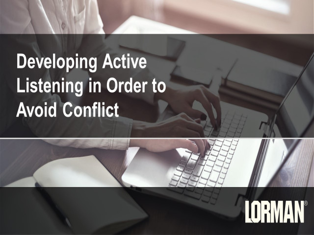 Developing Active Listening in Order to Avoid Conflict