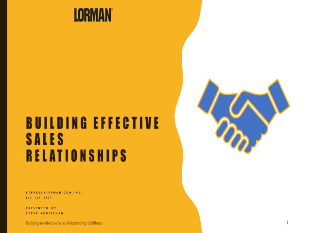 Building Effective Sales Relationships