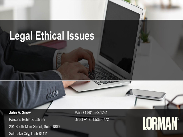 Legal Ethical Issues