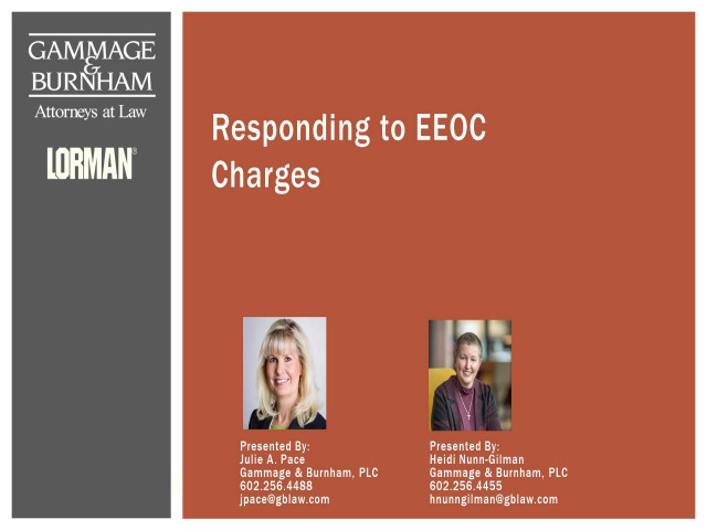 Responding to an EEO Charge