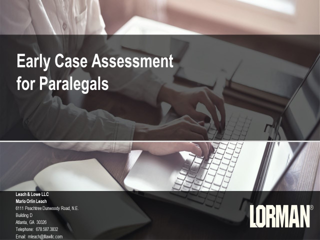 Early Case Assessment Strategies for Paralegals