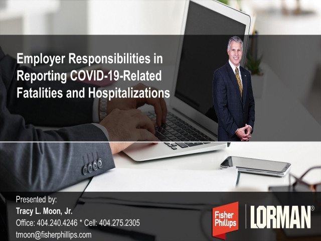 Employer Responsibilities in Reporting COVID-19-Related Fatalities and Hospitalizations