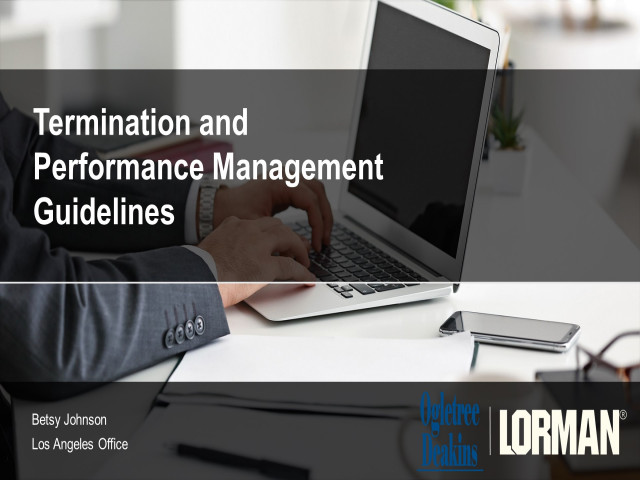 Termination and Performance Management Guidelines