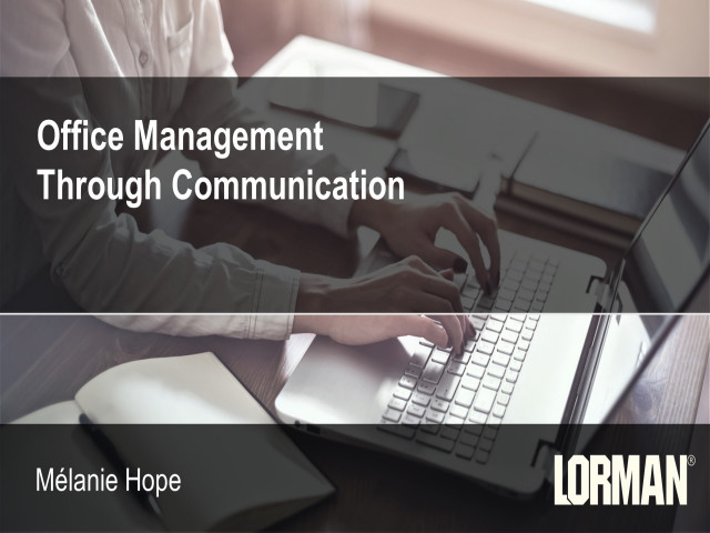 Office Management Through Communication