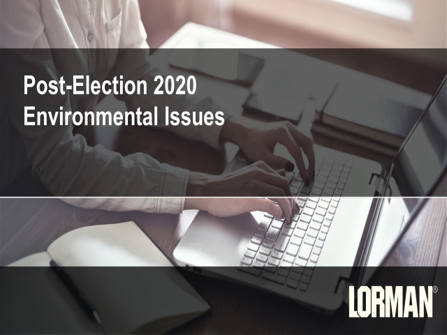 Post-Election 2020 Environmental Issues