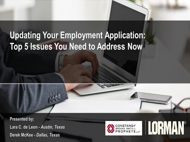 Updating Your Employment Application: Top 5 Issues You Need to Address Now