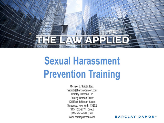 New York Sexual Harassment Prevention Training